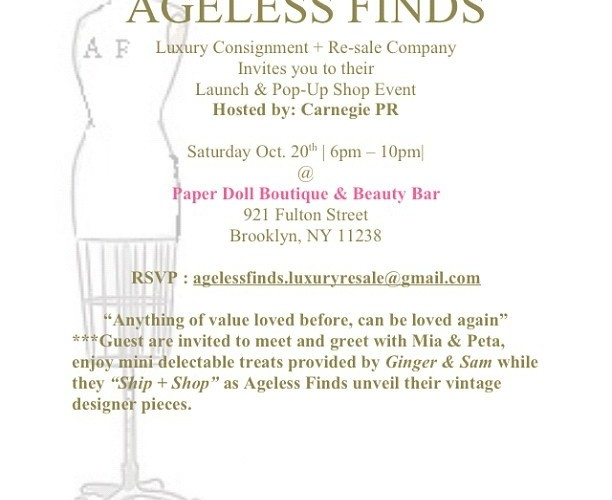 Ageless Finds Event