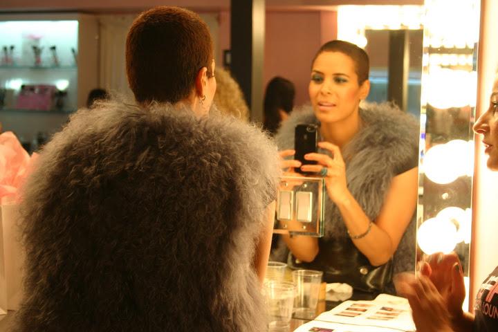 Daphne Wayans enjoying makeup services